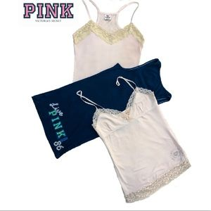 Victoria's Secret Pink Tanks Lot Of 3